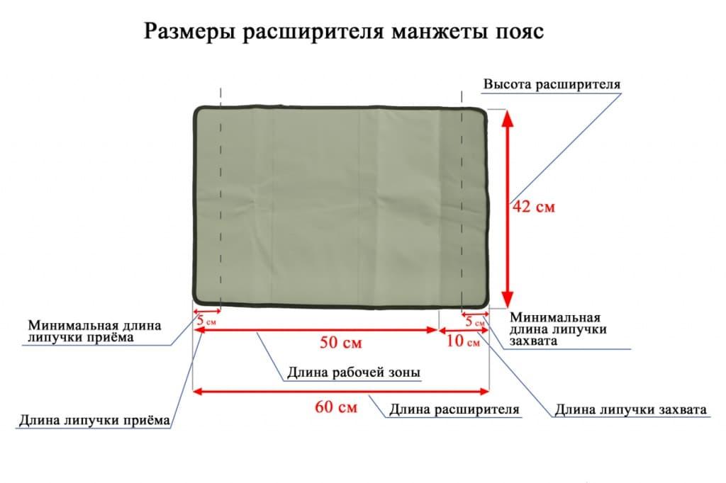 Расширитель манжеты для талии к ZAM-02 / 200S / Luxury